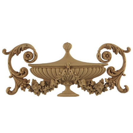 Urn Resin Appliques for Wood Fireplace Mantels - URN-6475-CP-2 - Buy Online at ColumnsDirect.com