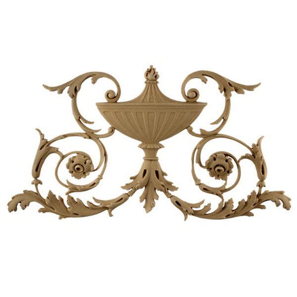 Urn Resin Appliques for Wood Fireplace Mantels - URN-0367-CP-2 - Buy Online at ColumnsDirect.com