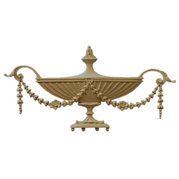 Urn Resin Appliques for Wood Fireplace Mantels - URN-12611-CP-2 - Buy Online at ColumnsDirect.com