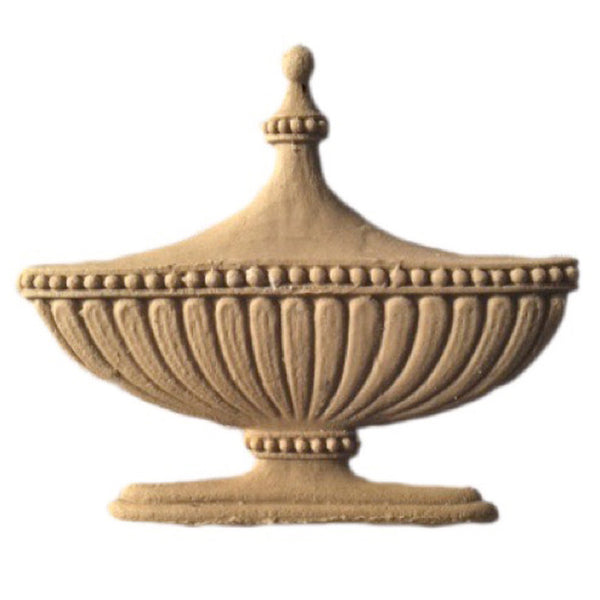 Urn Resin Appliques for Wood Fireplace Mantels - URN-F724-CP-2 - Buy Online at ColumnsDirect.com