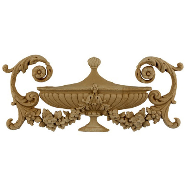 Urn Resin Appliques for Wood Fireplace Mantels - URN-53331-CP-2 - Buy Online at ColumnsDirect.com