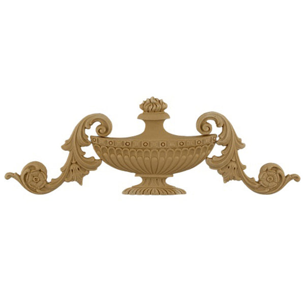 Urn Resin Appliques for Wood Fireplace Mantels - URN-14041-CP-2 - Buy Online at ColumnsDirect.com