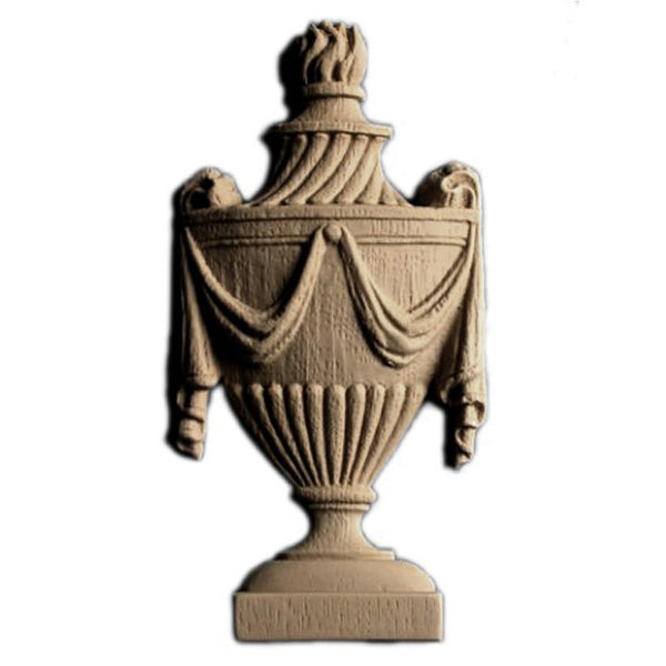 Urn Resin Appliques for Wood Fireplace Mantels - URN-F039-CP-2 - Buy Online at ColumnsDirect.com