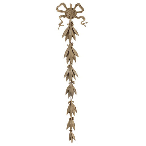"Decorative 3-5/8""(W) x 19-1/4""(H) x 3/8""(Relief) - Louis XVI Vertical Drop Applique - [Compo Material] - Brockwell Incorporated"