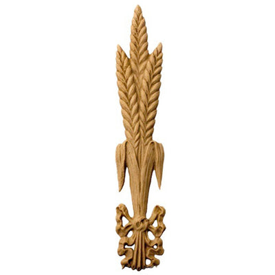 "Decorative 1""(W) x 9-3/4""(H) - Wheat Stalk Vertical Drop Applique - [Compo Material] - Brockwell Incorporated"