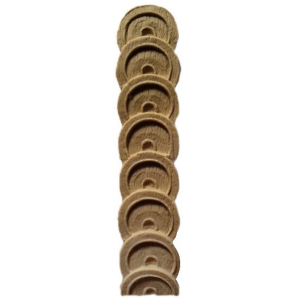 "Decorative 7/8""(W) x 4""(H) - Coin Vertical Drop Applique  - [Compo Material] - Brockwell Incorporated"