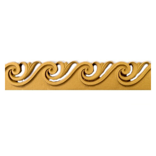"2-5/16""(H) x 5/16""(Relief) - Greek Style Vitruvian Wave Molding Design - [Compo Material]-Brockwell Incorporated"