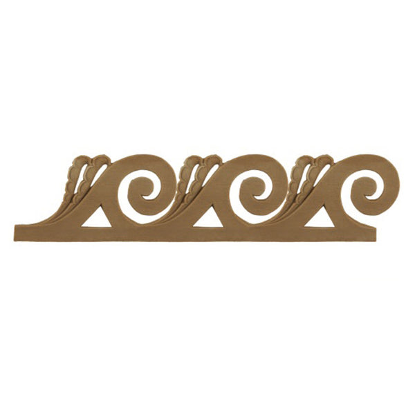 "2-1/8""(H) x 3/16""(Relief) - Classic Style Vitruvian Wave Molding Design - [Compo Material]-Brockwell Incorporated"