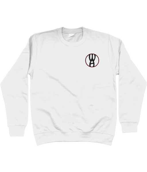 Warpin Apparel Sweatshirt Embroidered Logo White