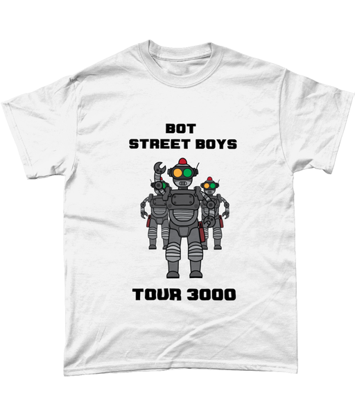 White Bot Street Boys T-shirtTSHIRT - Warpin Apparel & Accessories