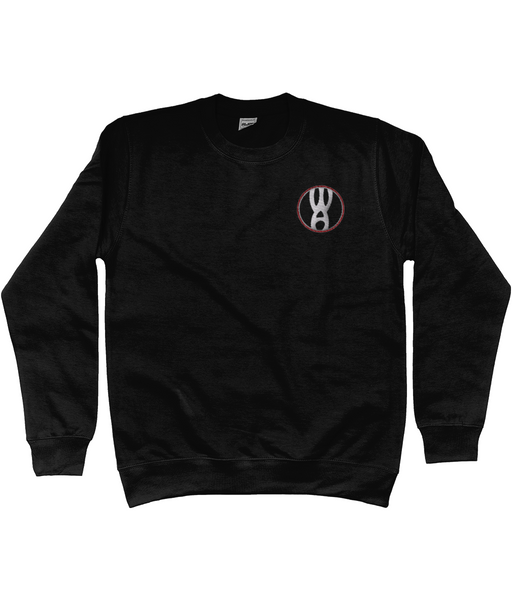 Warpin Apparel Sweatshirt Embroidered Logo Black