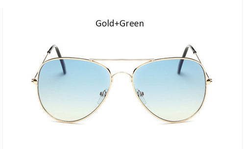 Womens Aviation Clear Sungllasses