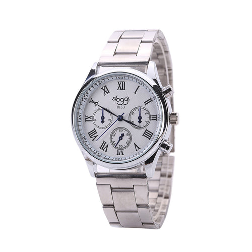 Mens Quartz Watch Stainless Steel Strap