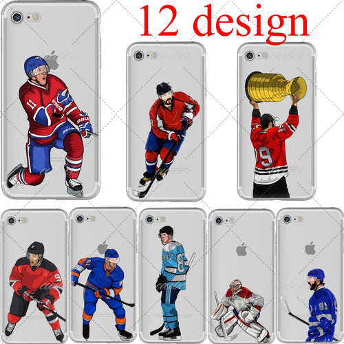 Ice hockey Cartoon Soft Cases