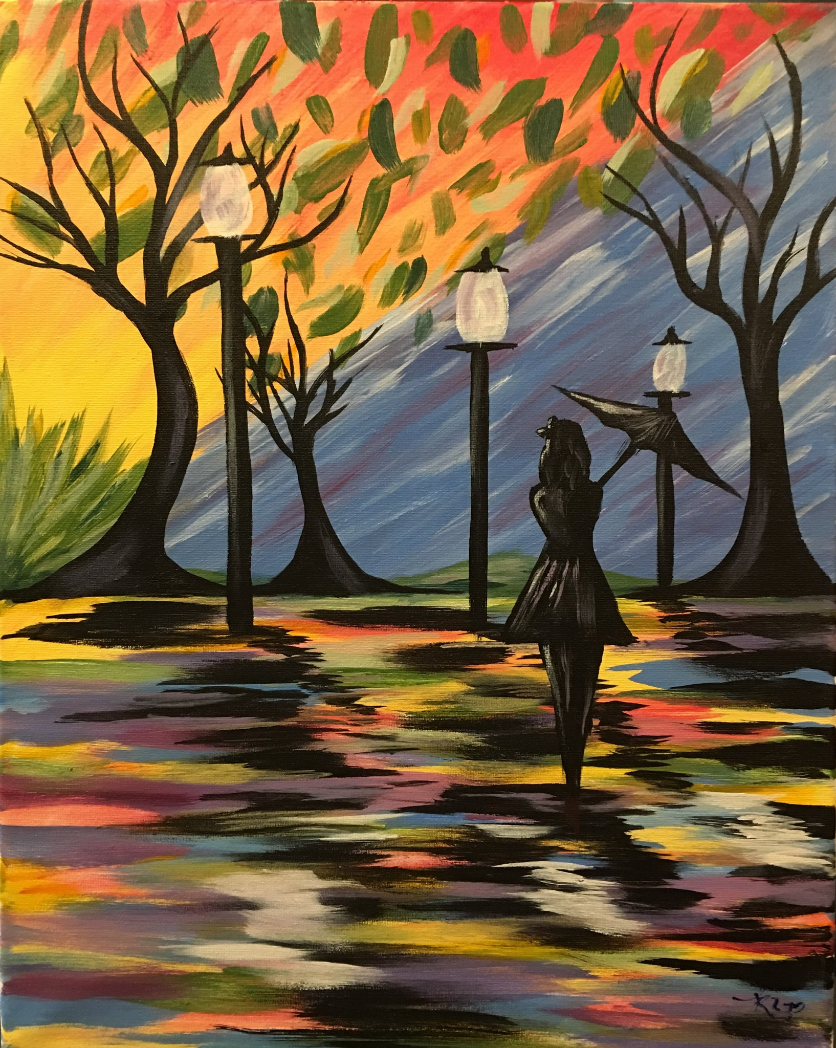 """Autumn Nights""    7:00 pm Sunday, May 26st, 2019 Sip & Paint, Long Weekend BYOB"