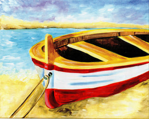 """Beached Boat""    7:00 pm Saturday, July 20th, 2019 Sip & Paint BYOB"