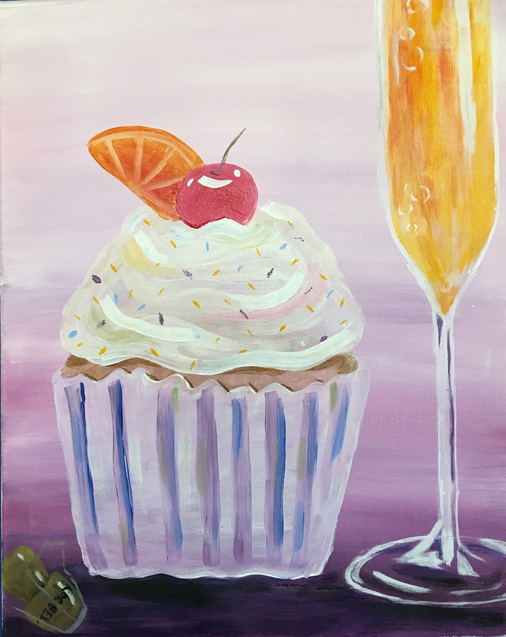 "Brush & Brunch!   ""Cupcake & Champagne""  2:00 pm Sunday, Sept 16, 2018"