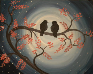 """Nightbirds""    7:00 pm Friday, May 31st, 2019 Sip & Paint BYOB"