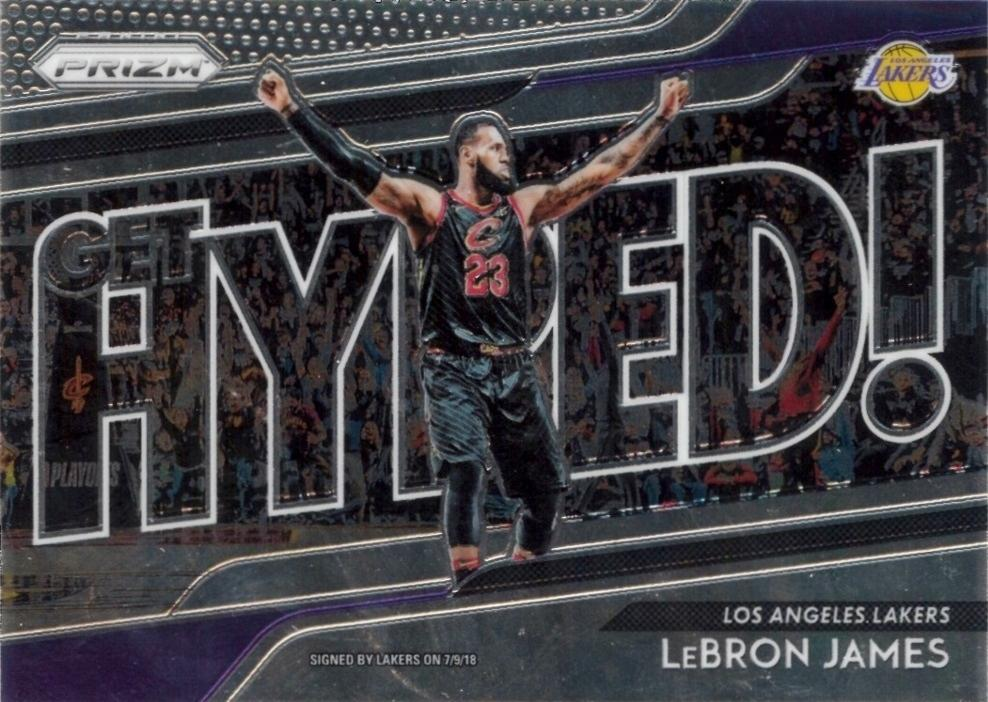 2018-19 Panini Prizm - Get Hyped! #4 LeBron James