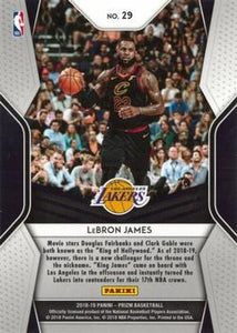 2018-19 Panini Prizm - Dominance #29 LeBron James
