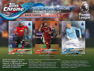 2018-19 Topps Chrome Premier League Soccer Hobby Pack