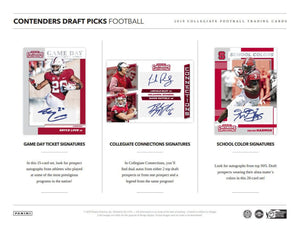 2019 Panini Contenders Draft Picks Football Hobby Pack
