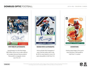 2019 Panini Donruss Optic Football Hobby Pack