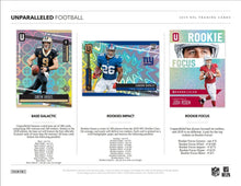 2019 Panini Unparalleled Football Hobby Pack