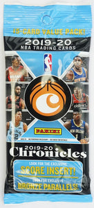 2019-20 Chronicles Basketball Jumbo/Fat 15 Card Pack