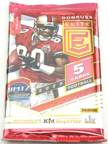 2020 Panini Donruss Elite Football Hobby Pack