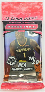 2019-20 Panini Mosaic Basketball Cello Pack
