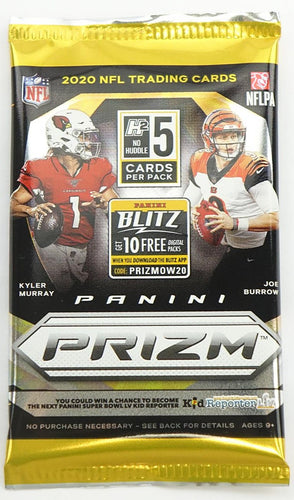 2020 Panini Prizm No Huddle Football Hobby Pack