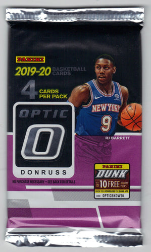 2019-20 Panini Donruss Optic Basketball Hobby Pack