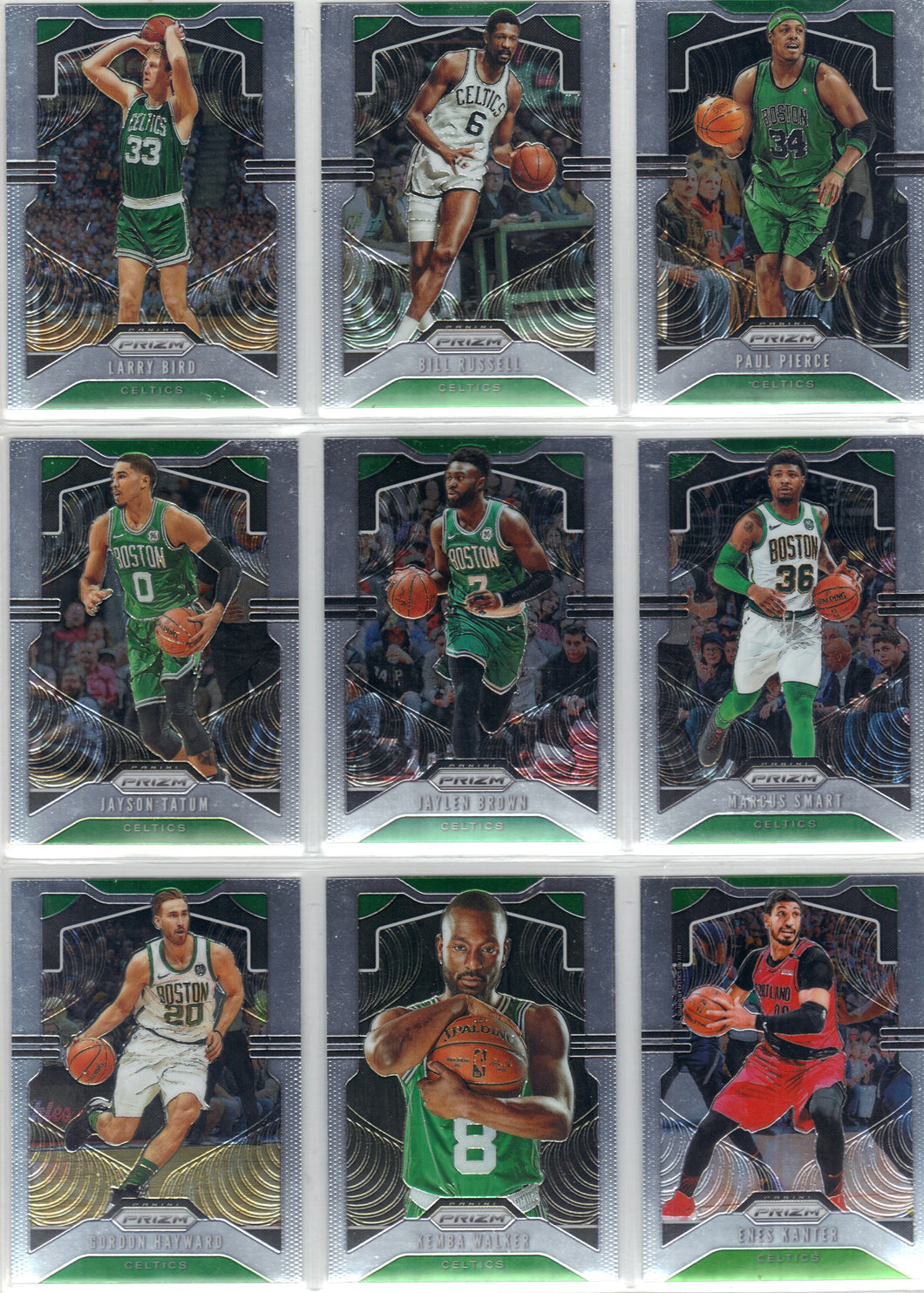 2019-20 Prizm Boston Celtics NBA Basketball Cards Team Set