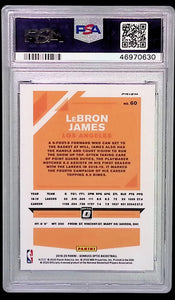 2019 Panini Donruss Optic #60 Fanatics LeBron James PSA 9