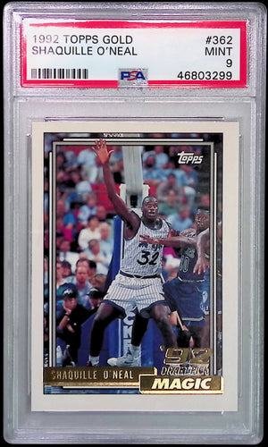 1992 Topps Gold #362 Shaquille O'Neal PSA 9
