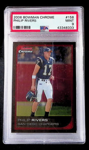 2006 Bowman Chrome Philip Rivers #158 PSA 9