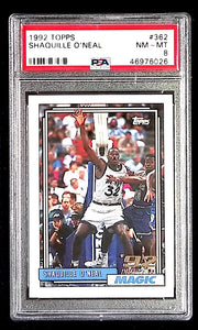 1992 Topps Shaquille O'Neal #362 PSA 8