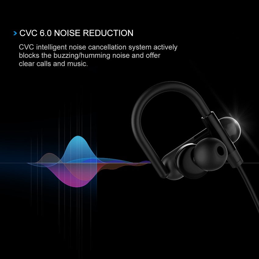 MPOW QY11 Bluetooth 4 1 Sport Ear Hook Noise Cancelling Headphones W/ Apt-X  and HiFi 3D stereo