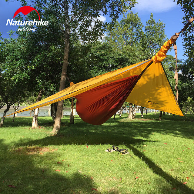 Naturehike Hammock Portable Camping Hammock With Mosquito Nets Single Person Hammock Swing Grey Orange