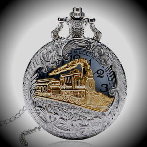 Classic Locomotive Pocket Watch
