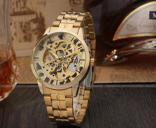 Skeleton Steampunk Wristwatch