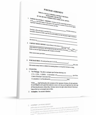 real estate contract free printable 1 page document flip man wear