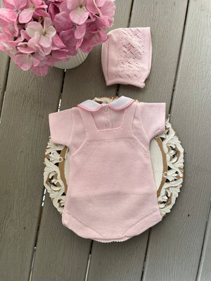 Short Romper Knitted Set