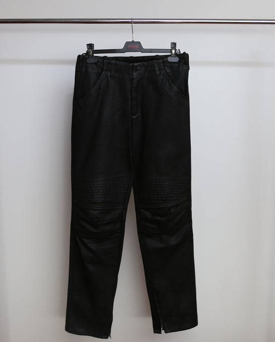 HELMUT LANG AW99/00 WAXED BIKER DENIM 46