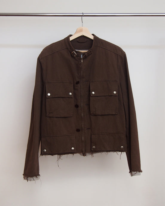 Hussein Chalayan Distressed Moto Jacket 04 50
