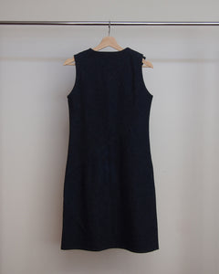 Helmut Lang Denim Dress with Rubber accent and twist seam 97-98 40