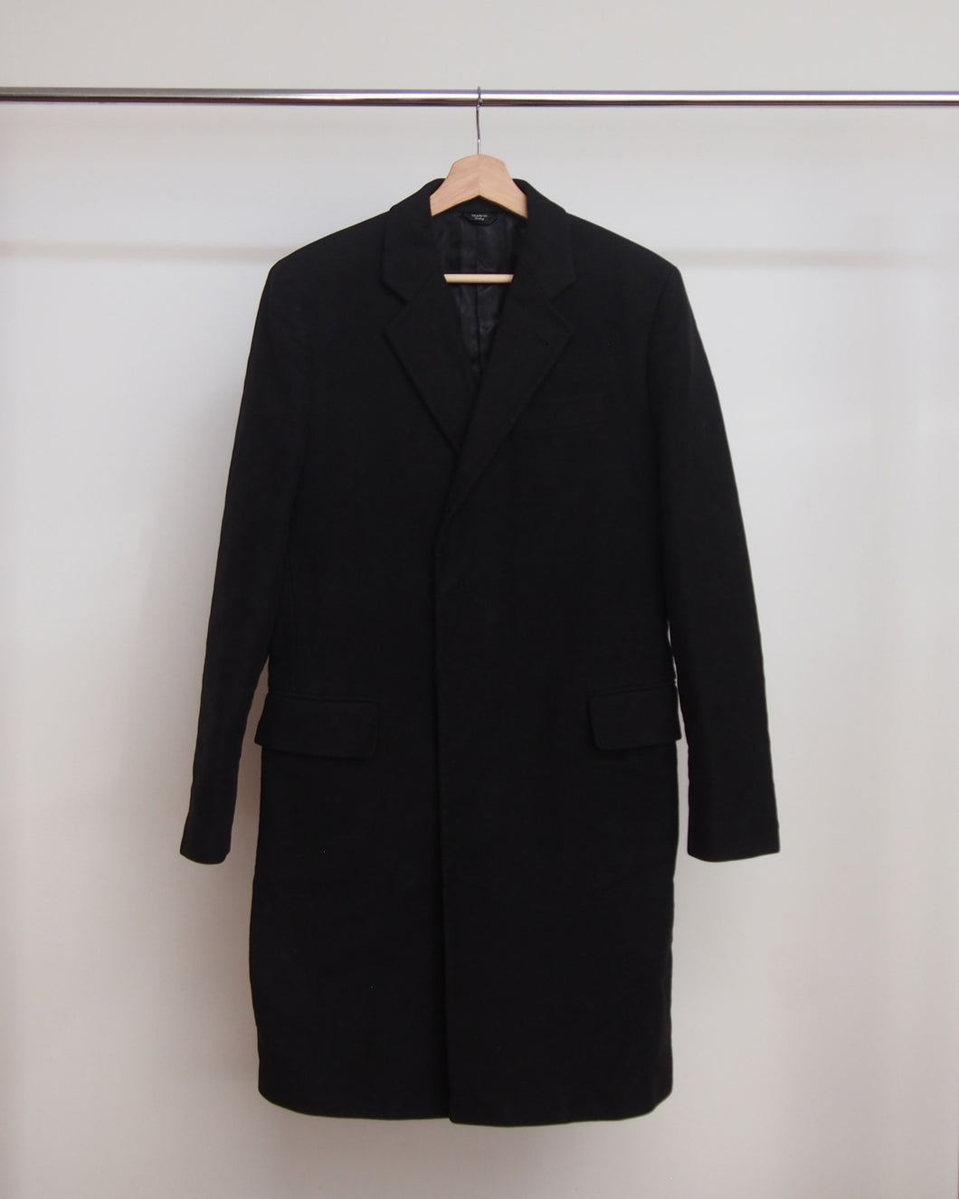 Helmut Lang Moleskin Long Coat  46