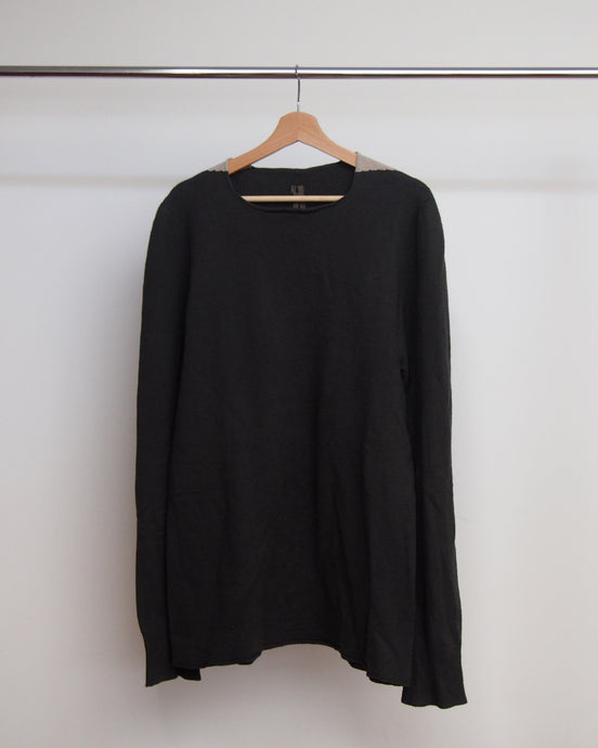 Rick Owens Contrast Shoulder Sweater AW06