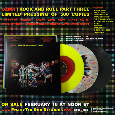 Ozma - Rock and Roll Part Three Vinyl Reissue on sale 2/16
